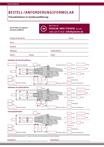Sonderausführung Frässtangen - Bestellformular